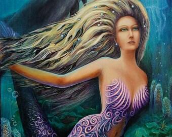 Mermaid, dolphin, osean, undersea worl