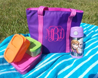 Monogrammed Lunch Tote