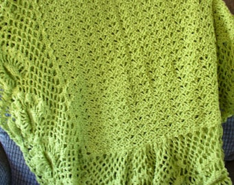 Soft Green Afghan