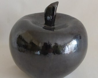 Apple raku ceramic