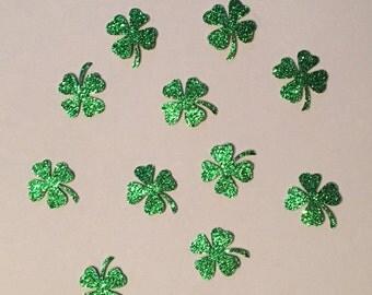 Green Shamrock Confetti Clover Confetti St. Patrick's Day Confetti Holiday Confetti Glitter Confetti
