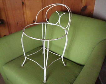 Vintage Mid Century Metal Vanity Chair/Make Up Stool