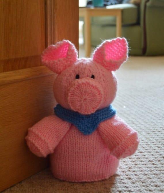 Pig door stop knitting pattern door stop knitting pattern novelty pig knitting pattern from - Novelty doorstop ...