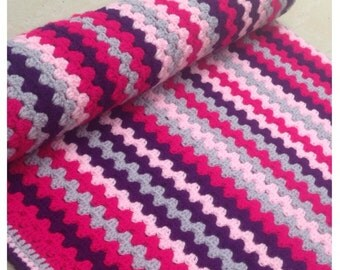 Beautiful hand crafted baby & toddler blanket