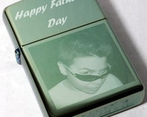 Authentic Engraved Zippo Chameleon Lighter 28129 with Free Photo & Text Engraving + Flints