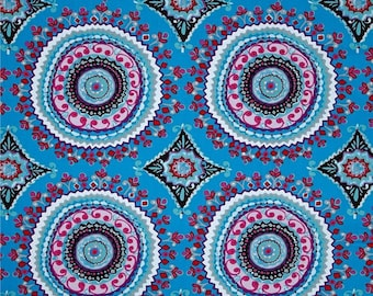 "Dena Designs  FreeSpirit ""Haute Girls"" Large Circles Cotton Fabric"