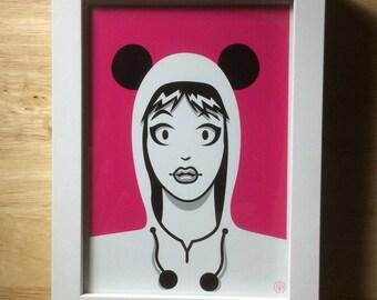 Panda Girl Pink