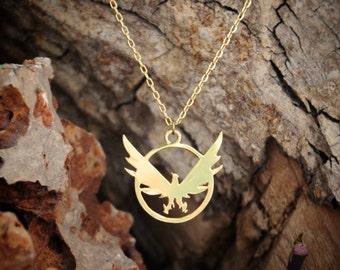 Division golden necklace, Phoenix necklace, The division, Division necklace, Golden phoenix, Division game, The division game