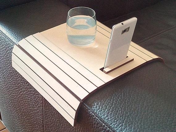 Laser cut wood sofa arm tablecouch wrapsofa by