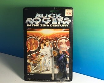 VINTAGE BUCK ROGERS Dr Huer doctor Action Figure in 25th Century moc sealed unopened 1979 Mego corporation rare 100% original toy