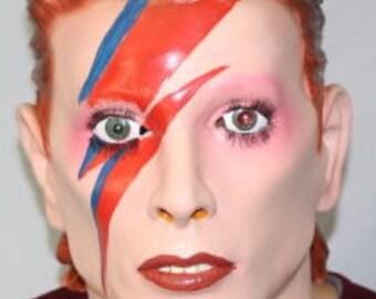 Deluxe Ziggy Latex Mask Overhead Bowie Starman Halloween Fancy Dress