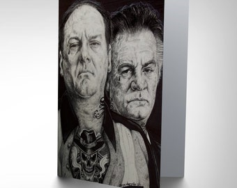 Sopranos Card - Inked Ikons Art by Wayne Maguire Blank Card CP2940