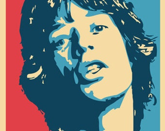 rolling stones Mick Jagger Poster Pop Art Rare Hot New 24x36