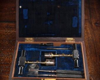 1860's Alex Peck Antique Neurosurgical Trephine Set