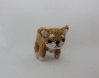 Small Handmade Wool Shiba Inu Dog