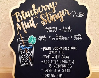 Drink Recipe Chalkboard Sign