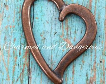 Copper Open Heart pendant (P78)