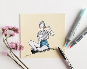 Lollipop; Fashion Illustration; Korean Fashion; Art Print