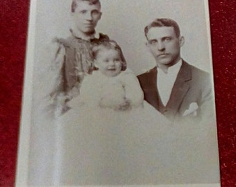 1893 Cabinet Card Photo of Young Family