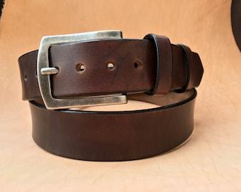 Leather Belt - ESSENTIAL - Light Brown (Brown Leather Belt, Mens Leather Belt, Womens Leather Belt)