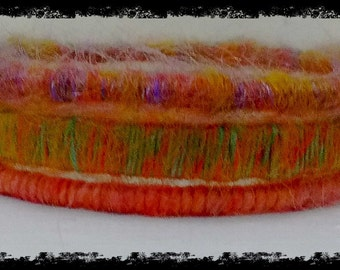 Pure wool bangles - spring colours