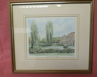 Philip Martin – Limited Edition Mounted and Framed Print of Welwyn Garden City