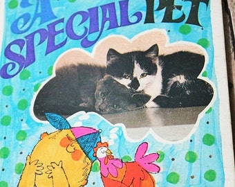 A Special Pet-vintage children's book-Tell a Tale Book-A Special Pet-Marjory Schwalje-kids story book-Animal book-