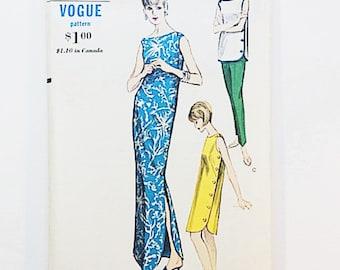 60s Maxi Dress Pattern | Vogue 6178 Patio Dress & Pants Pattern | 60s Sewing Pattern