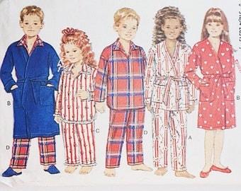 90s Kids Robe Pattern | Butterick 3710 Children's Robe Pattern | 90s Sewing Pattern