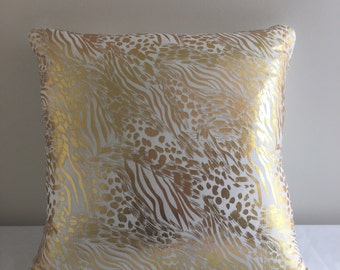 Gorgeous gold and copper cushion
