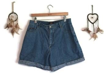 High Waisted Shorts - 90s Vintage High Waisted Denim Shorts