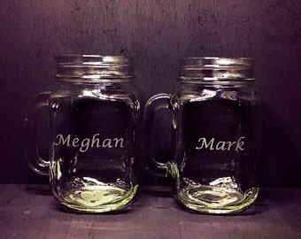 Customized Mason Jar glass