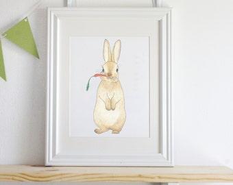 Carrot Bunny Wall art