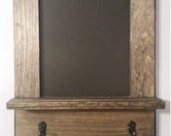Framed Chalkboard and Key Holder