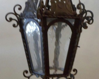 Black Iron Hanging Light