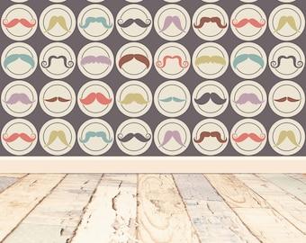 moustache with vintage wood floordrop Photography Backdrop Newborns kids photo vinyl photography Background B1103