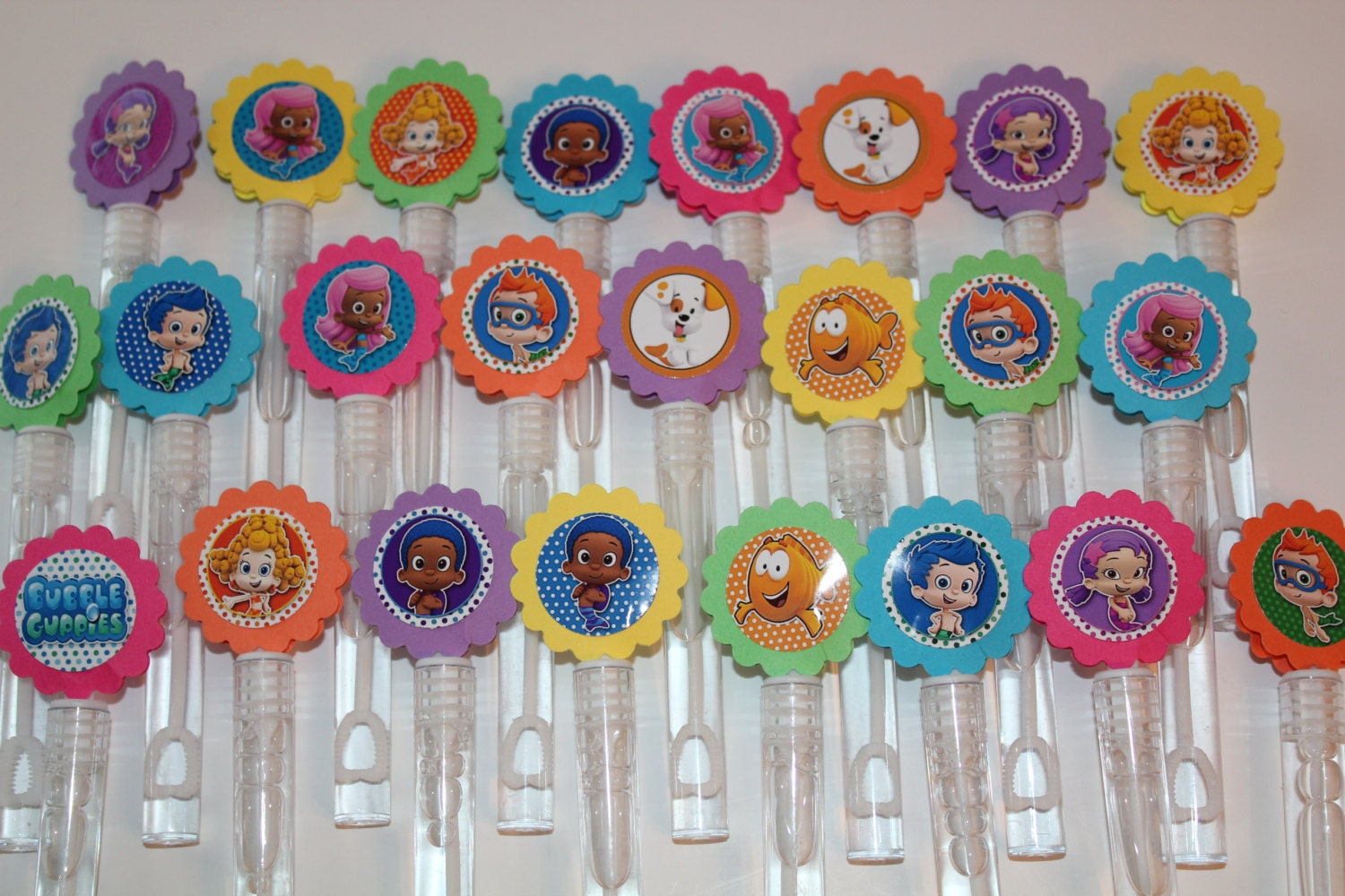 Bubble guppies mini bubble wands birthday party favors set for Mini bubble wands