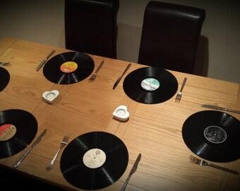 Retro record Placemats set of 6