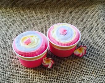 Baby cloth cupcake, baby gift, baby shower gift