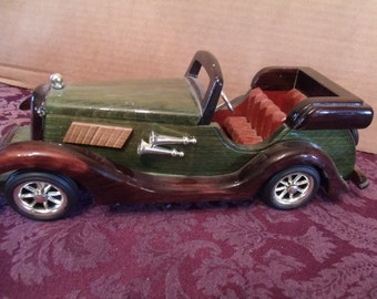 Wood car model vintage automobile antique car model hand made