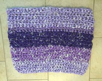 Purple Crocheted Rag Rug