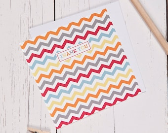 Chevron Thank You Note Cards