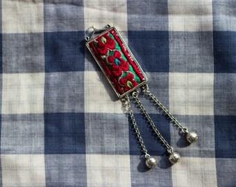 Miao's Embroidery Pendant