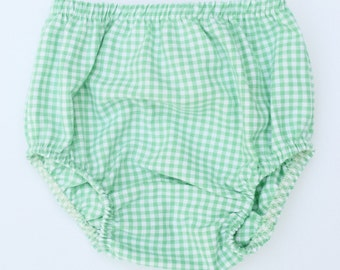 Bloomers in Aqua Green Gingham
