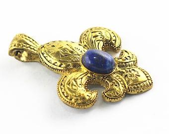 Lapis Lazuli Pendant in Gold plated LP04.P-LAP-0078