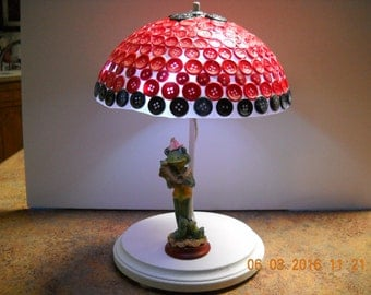 Lighted Girl Frog with Umbrella