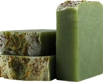 Green Mint soap bar, Spearmint Bar soap, All Natural Bar Soap, Goats Milk Soap, Handmade bar soap, Mint Soap,