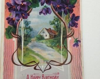 Vintage Birthday Post Card 1910's
