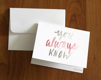 You Always Know Watercolor Card Set