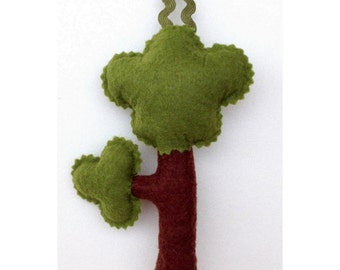 Tree Ornament, Pointed, Made of Felt, Handmade, Made to Order, Ornaments, Hand Embroidery, Felt Ornament,Tree Decoration, Gift Tag,Felt Tree
